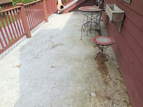 Easton balcony cleaning