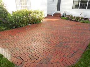 after power washing the patio in Easton