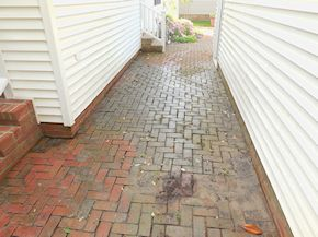 Easton Maryland patio in need of cleaning
