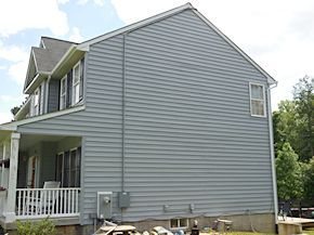 after the Easton vinyl siding cleaning process